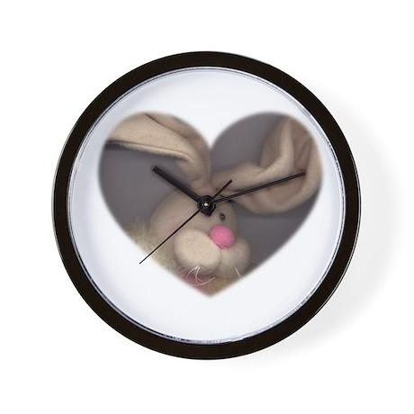 BUNNY FACE HEART Wall Clock