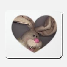 BUNNY FACE HEART Mousepad