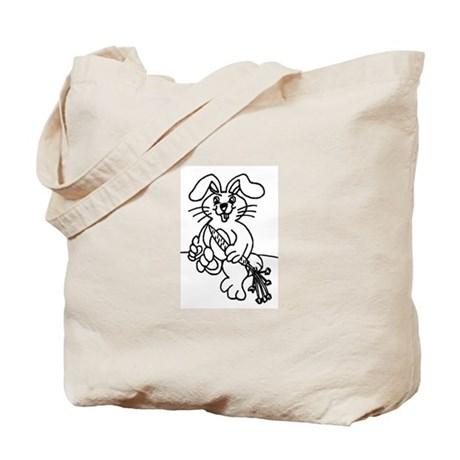 BUNNY X2 Tote Bag (ONE ON EACH SIDE)