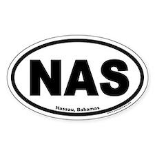 Nassau Bahamas NAS Euro Oval Stickers