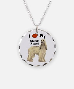 I Love My Afghan Hound Necklace