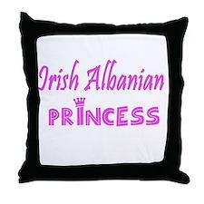 Irish Albanian princess Throw Pillow