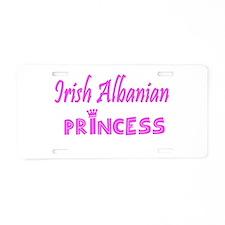 Irish Albanian princess Aluminum License Plate