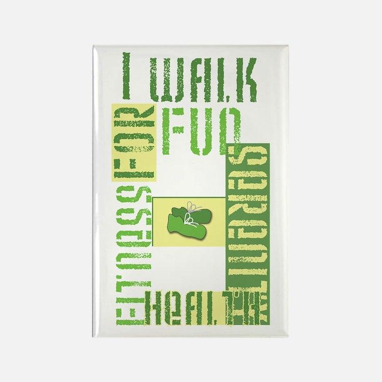 I Walk for Fun... Rectangle Magnet