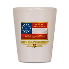 20th Texas Infantry Shot Glass