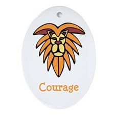 Lion Courage Ornament (Oval)