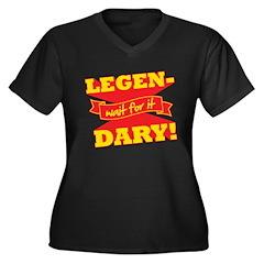 Legendary Women's Plus Size V-Neck Dark T-Shirt