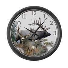 Big Game Large Wall Clock