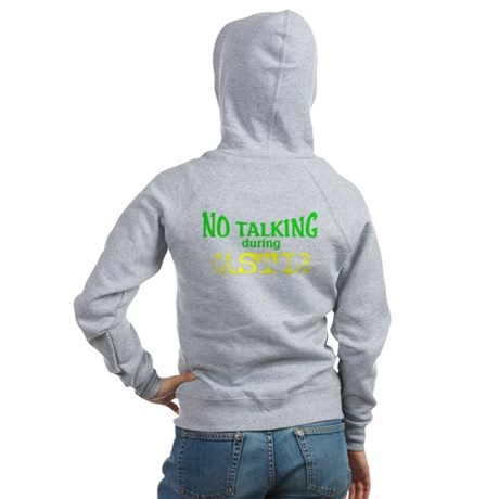 No Talking During Castle Women's Zip Hoodie