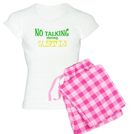No Talking During Castle Women's Light Pajamas