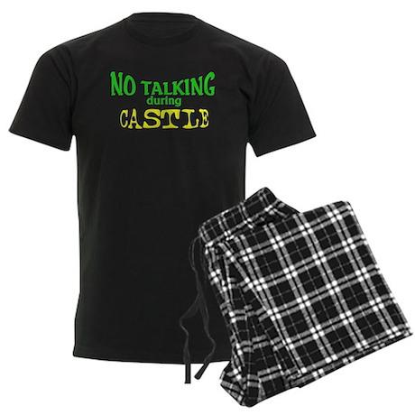 No Talking During Castle Men's Dark Pajamas