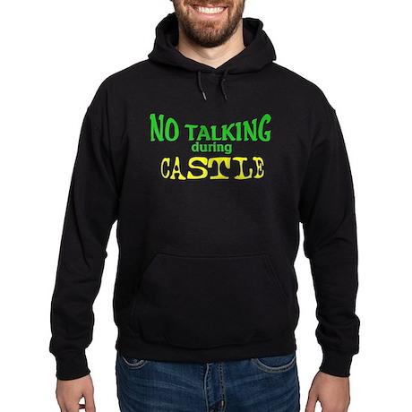 No Talking During Castle Hoodie (dark)