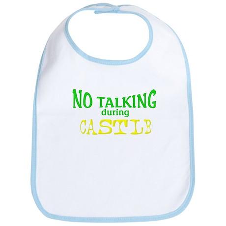 No Talking During Castle Bib