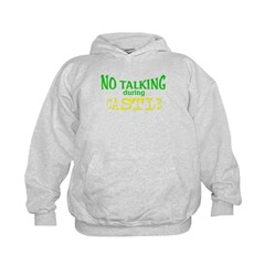 No Talking During Castle Kids Hoodie