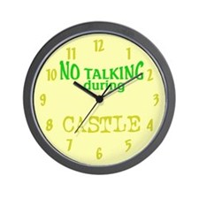 No Talking During Castle Wall Clock