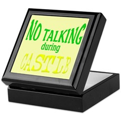 No Talking During Castle Keepsake Box