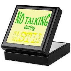 No Talking During Castle Keepsake Box