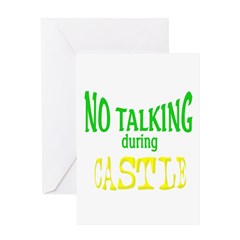 No Talking During Castle Greeting Card