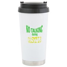 No Talking During Castle Stainless Steel Travel Mu