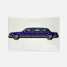 Classic Dark Blue Limo Rectangle Magnet