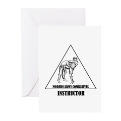 Modern Army Combatives Instructor Greeting Cards (