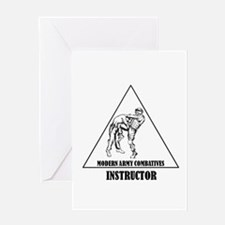 Modern Army Combatives Instructor Greeting Card