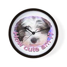 Tibetan Terrier Wall Clock