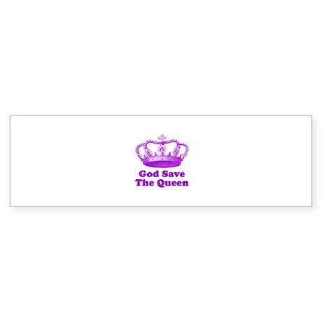 God Save The Queen Sticker (Bumper)