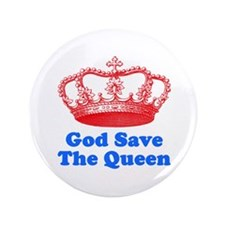 """God Save The Queen 3.5"""" Button"""