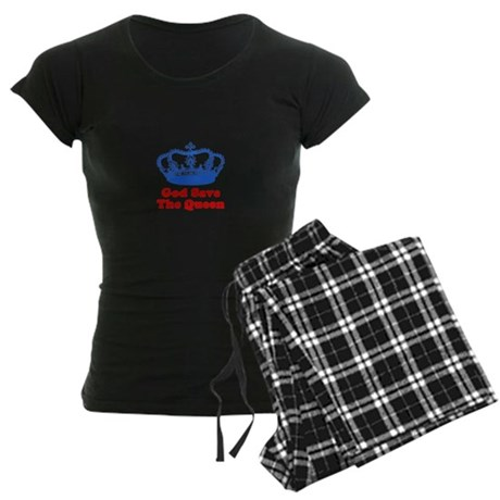 God Save The Queen Women's Dark Pajamas