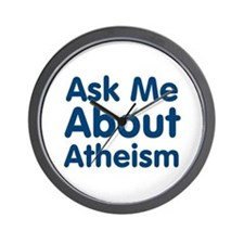 Ask Me About Atheism Wall Clock