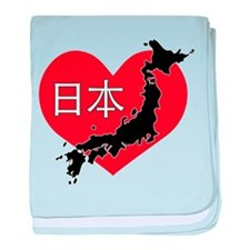 Heart Japan baby blanket