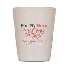Uterine Cancer For My Hero Shot Glass