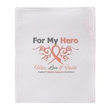 Uterine Cancer For My Hero Throw Blanket