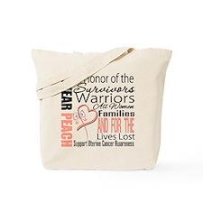 Uterine Cancer Tote Bag