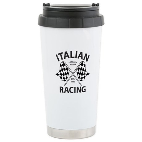 Italian Racing Stainless Steel Travel Mug