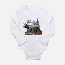 Bull Elk Long Sleeve Infant Bodysuit