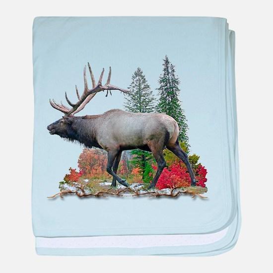 Bull Elk baby blanket