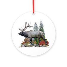 Bull Elk Ornament (Round)