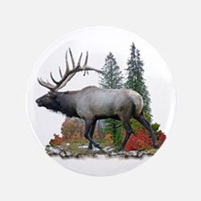 "Bull Elk 3.5"" Button"