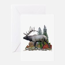 Bull Elk Greeting Card