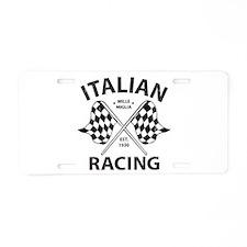 Italian Racing Aluminum License Plate