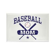 Baseball Mom Rectangle Magnet