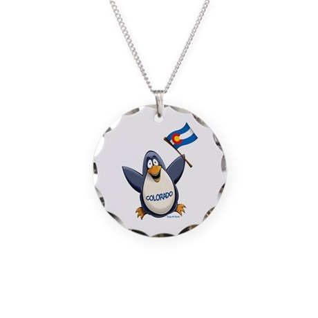 Colorado Penguin Necklace Circle Charm