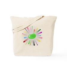 green jellybean blowout Tote Bag
