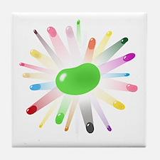 green jellybean blowout Tile Coaster