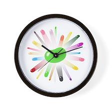 green jellybean blowout Wall Clock
