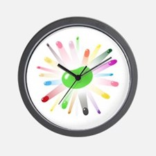 green jellybean blowout Wall Clock