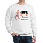 Uterine Cancer Hope Matters Sweatshirt