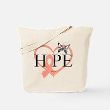 Uterine Cancer Hope Tote Bag